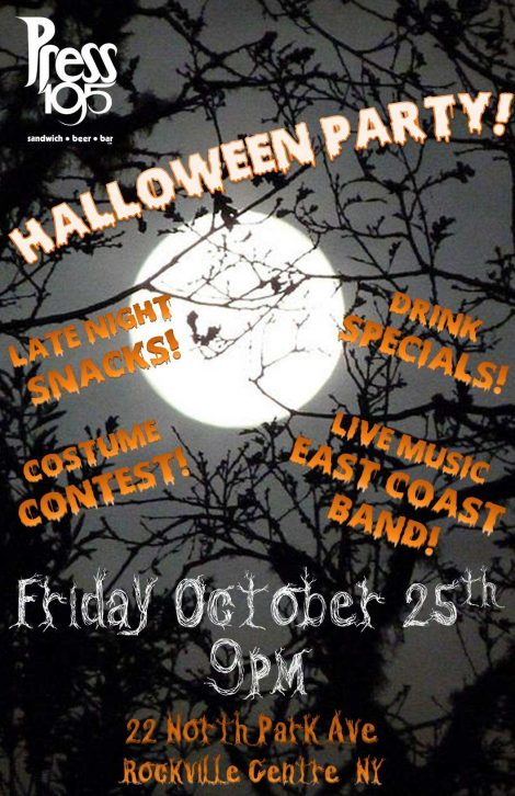 East Coast Halloween Party in Rockville Centre @ Press 195 | Rockville Centre | New York | United States